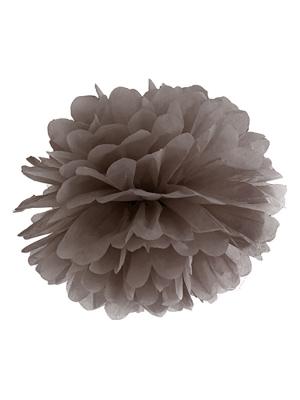 Zīdpapīra bumba, brūna, 25 cm