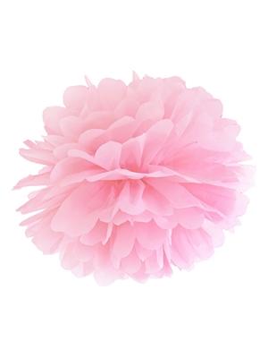 Zīdpapīra bumba, gaiši rozā, 25 cm