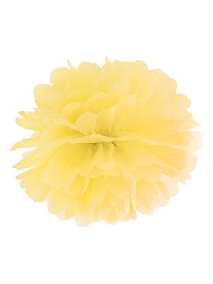 Zīdpapīra bumba, dzeltena, 25 cm
