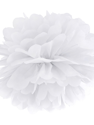 Zīdpapīra bumba , balta, 35 cm