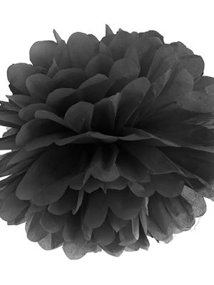 Zīdpapīra bumba , melna, 35 cm
