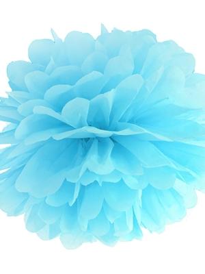 Zīdpapīra bumba, gaiši zila, 35 cm