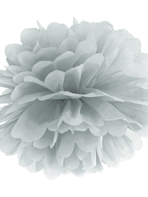 Zīdpapīra bumba, sudraba, 35 cm