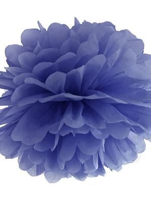 Zīdpapīra bumba, jūras zila, 35 cm