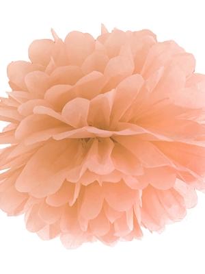 Zīdpapīra bumba, gaišs persiks, 35 cm
