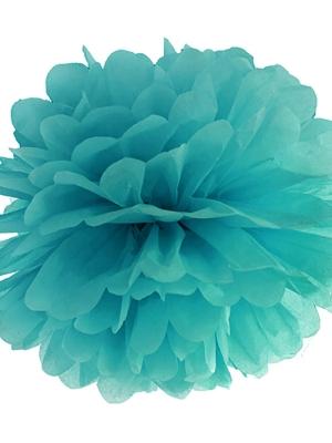 Zīdpapīra bumba, tumši zilganzaļa, 35 cm