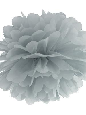 Zīdpapīra bumba, pelēka, 35 cm