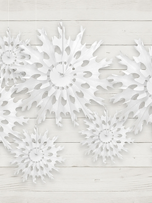 Sniegpārsliņa, balta, 37 cm