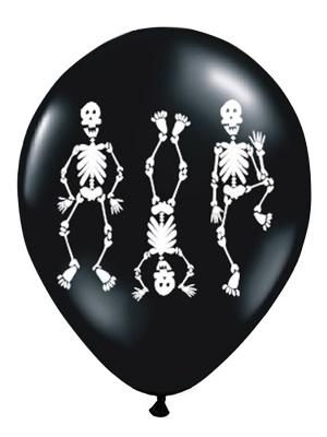 6 gab, Baloni Skelets, melni ar baltu, 30 cm