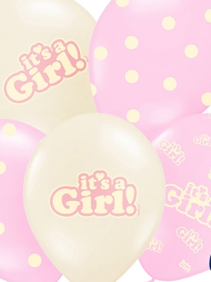 Balons Its a Girl, rozā vai bešs, 30 cm