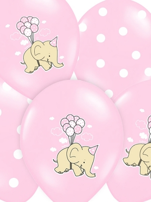 6 gab, Baloni Zilonis, gaiši rozā, 30 cm
