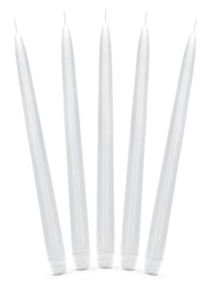 Konusa svece, matēta, balta, 29 cm