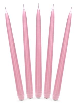 Konusa svece, matēta, gaiši rozā, 29 cm