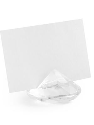 10 gab, Galda karšu turētājs Dimants, caurspīdīgs, 40 mm