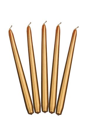 Konusa svece, glancēta, zelta, 24 cm