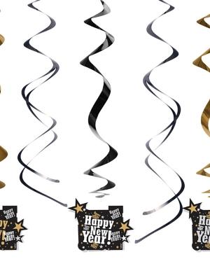 5 gab, Dekors Happy New Year!, 60 cm