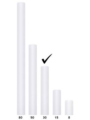 Tills, balts, 0.3 x 9 m