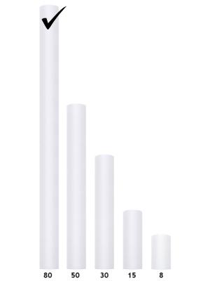 Tills, balts, 0.80 x 9 m