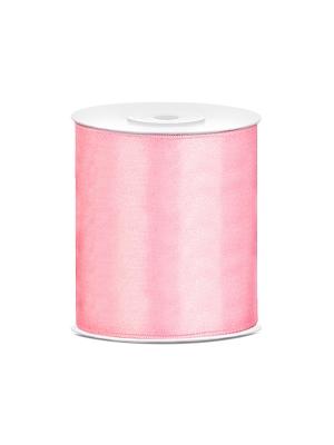 Satīna lente, gaiši rozā, 100 mm x 25 m