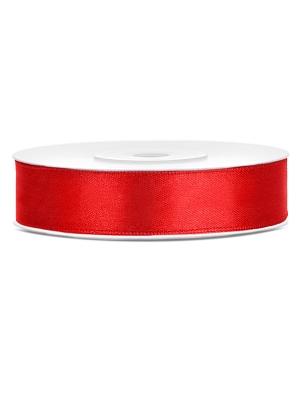 Satīna lente, sarkana, 12 mm x 25 m