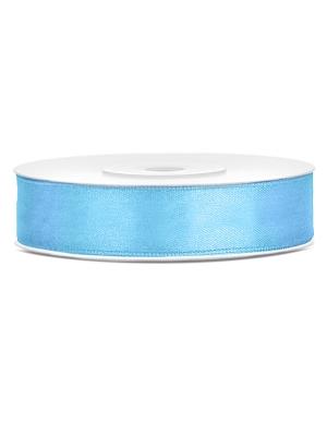 Satīna lente, gaiši zila, 12 mm x 25 m