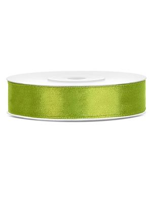 Satīna lente, zaļo ābolu, 12 mm x 25 m