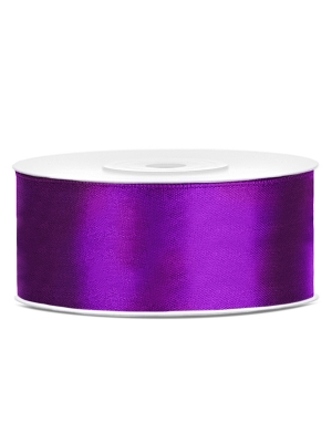 Satīna lente, violeta, 25 mm x 25 m