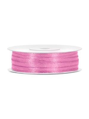 Satīna lente, rozā, 3 mm x 50 m