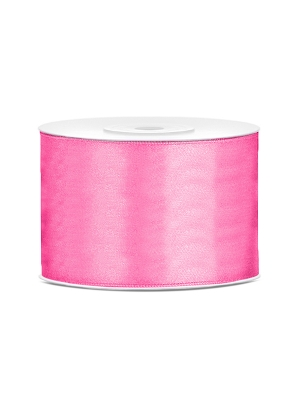 Satīna lente, rozā, 50 mm x 25 m