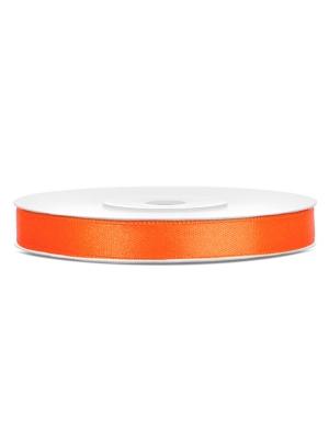 Satīna lente, oranža, 6 mm x 25 m