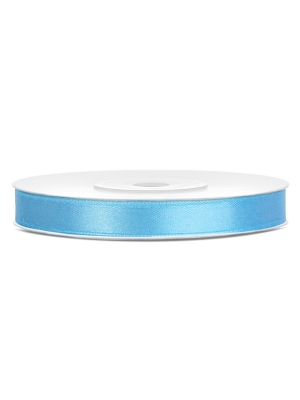 Satīna lente, gaiši zila, 6 mm x 25 m