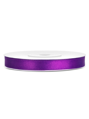 Satīna lente, violeta, 6 mm x 25 m