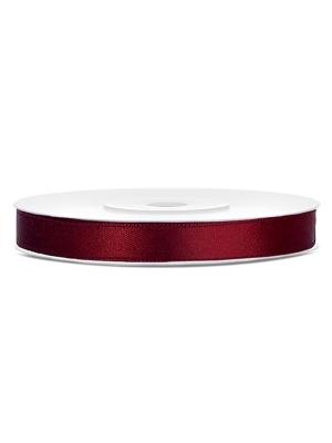Satīna lente, tumši sarkana, 6 mm x 25 m