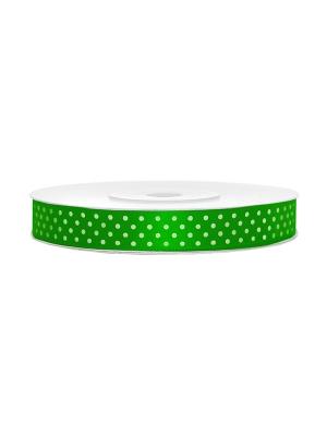 Satīna lente, zaļa, 12 mm x 25 m