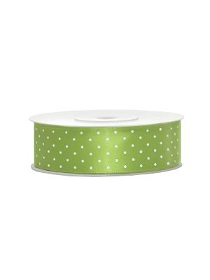 Satīna lente, zaļo ābolu, 25 mm x 25 m