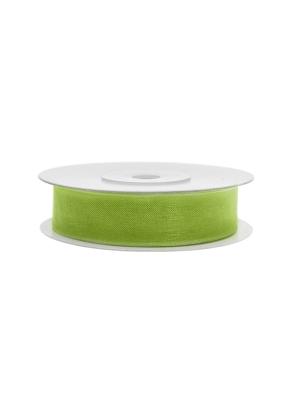 Šifona lente, zaļo ābolu, 12 mm x 25 m