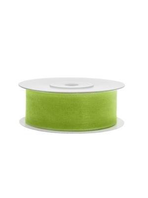 Šifona lente, zaļo ābolu, 25 mm x 25 m