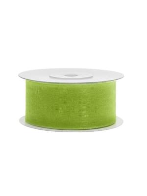 Šifona lente, zaļo ābolu, 38 mm x 25 m