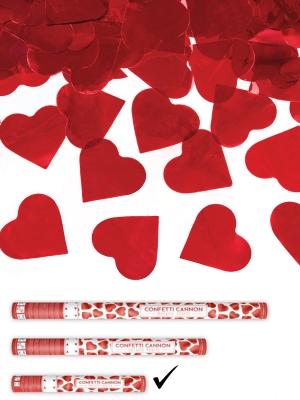 Plaukšķene ar sirdīm, sarkana, 40 cm