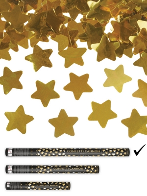Plaukšķene ar zvaigznēm, zelta, 80 cm