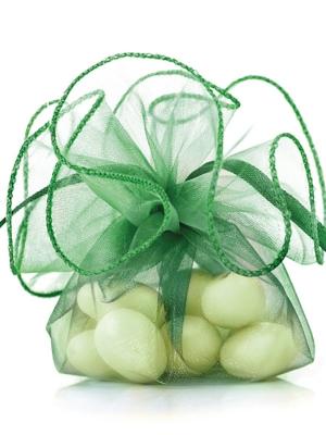 20 gab, Organzas maisiņi, smaragdzaļi, 26 cm