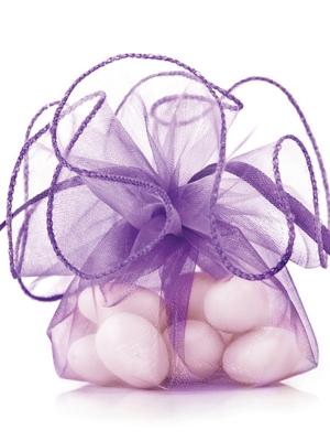 20 gab, Organzas maisiņi, violeti, 26 cm