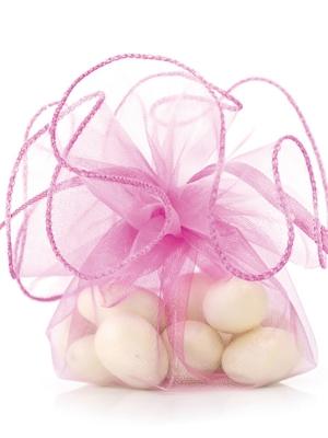20 gab, Organzas maisiņi, tumši rozā, 26 cm