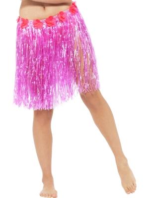 Havaju stila svārki, neona rozā