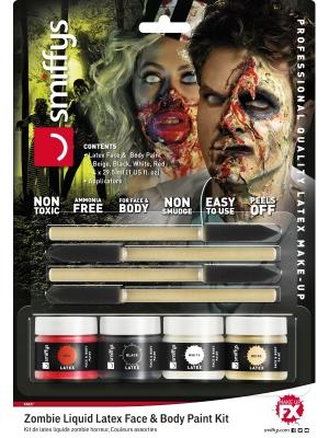 Lateksa Make-Up komplekts, Zombijs