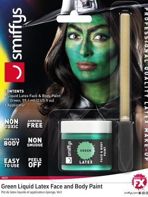 Lateksa Make-Up, zaļš