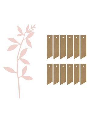 6 gab, Papīra zari ar birkam, pūdera rozā