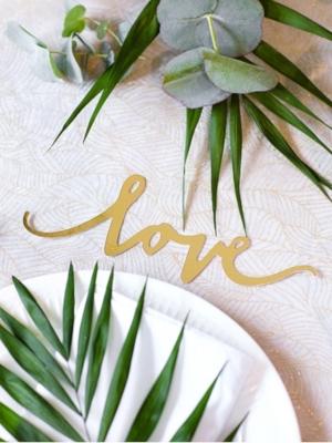 6 gab, Papīra dekorācija Love, zelta, 6 x 20 cm