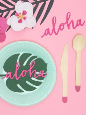 6 gab, Dekorācija Aloha, 5 x 12.5 cm