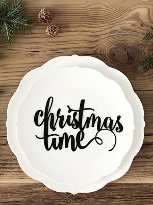 Dekors Christmas Time, melns